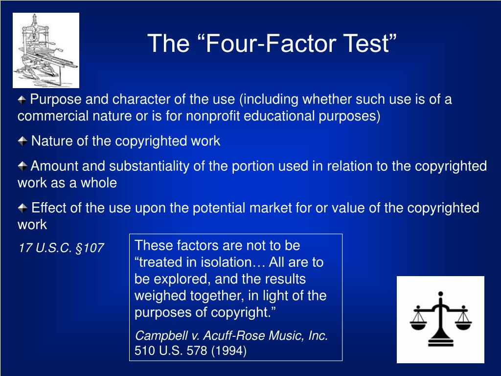 "The ""Four-Factor Test"""