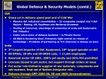 global defence security models contd