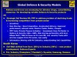 global defence security models