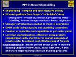 ppp in naval shipbuilding