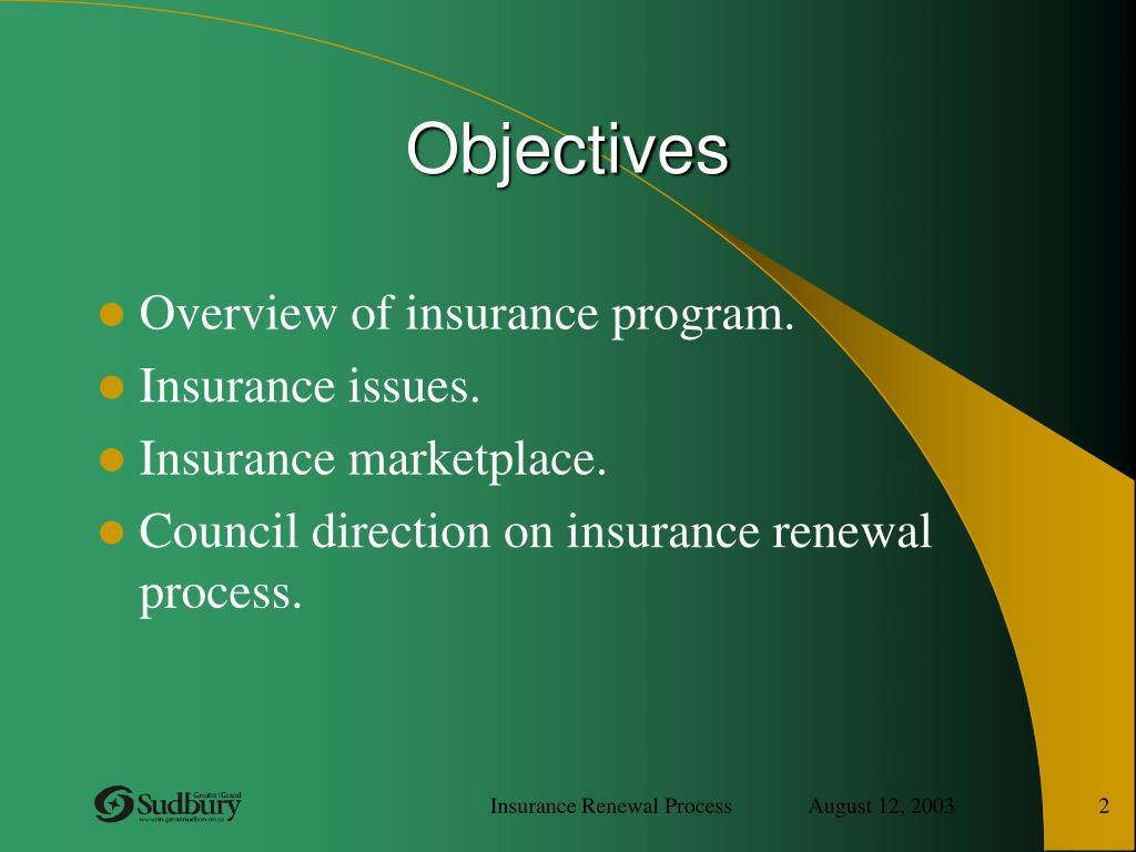PPT - INSURANCE RENEWAL PROCESS PowerPoint Presentation ...