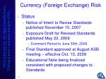 currency foreign exchange risk