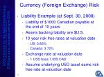 currency foreign exchange risk21