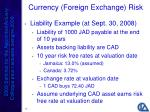currency foreign exchange risk25