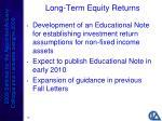 long term equity returns