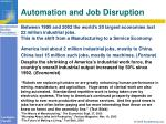 automation and job disruption