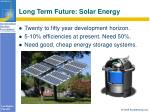 long term future solar energy