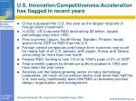 u s innovation competitiveness acceleration has flagged in recent years