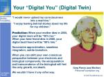 your digital you digital twin