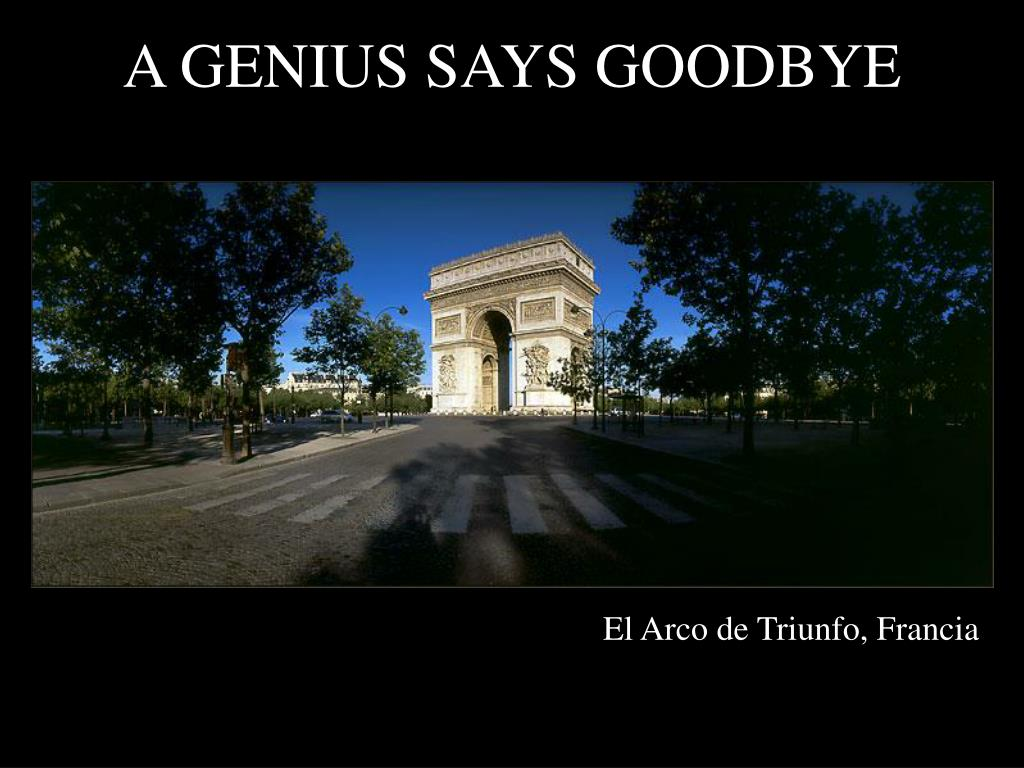 a genius says goodbye l.