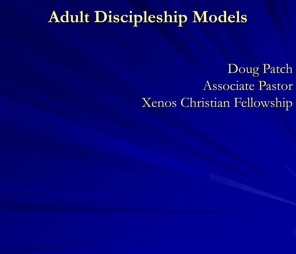 adult discipleship models l.