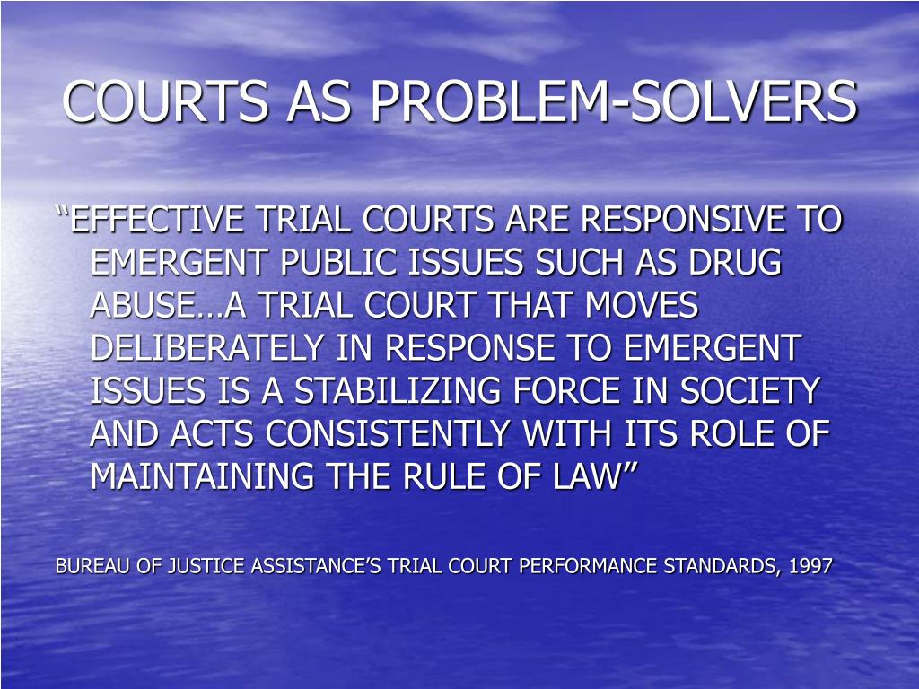 COURTS AS PROBLEM-SOLVERS