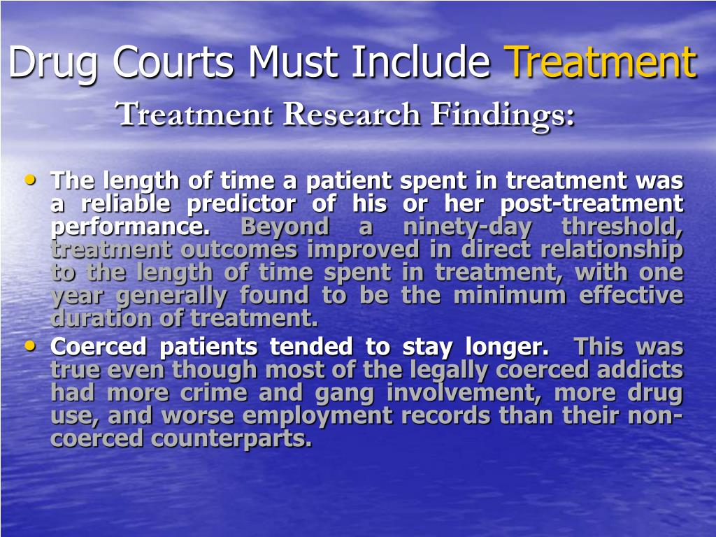 Drug Courts Must Include