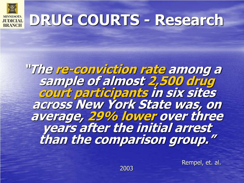 DRUG COURTS - Research