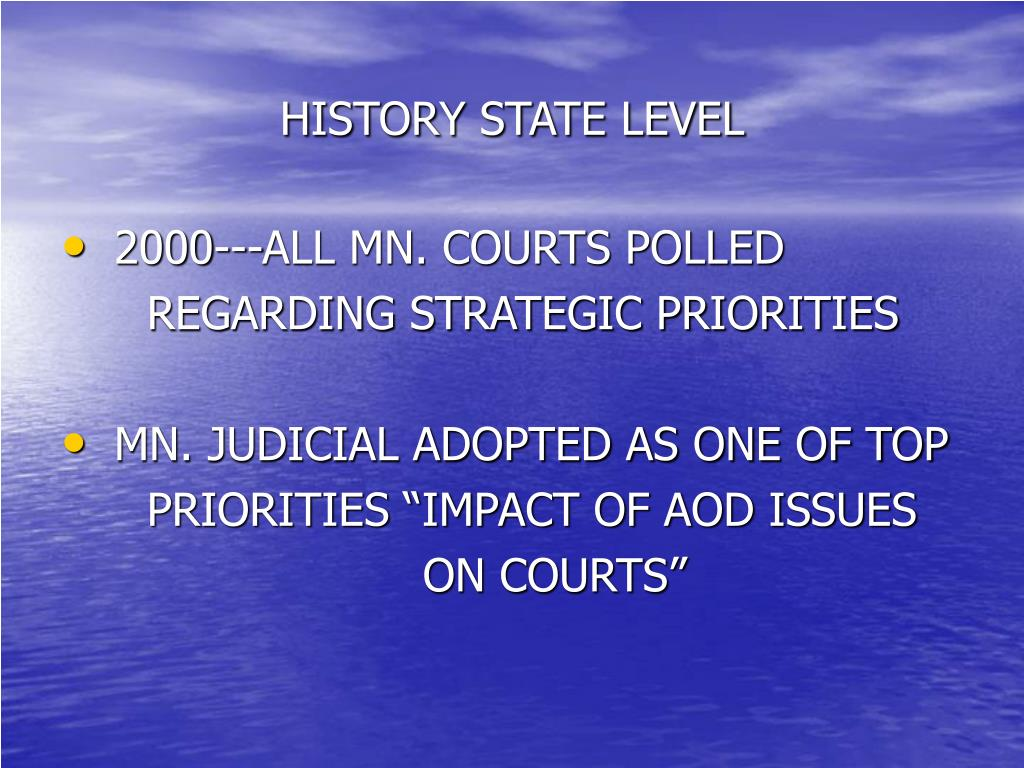 HISTORY STATE LEVEL