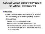 cervical cancer screening program for latinas project safe31