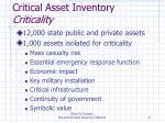 critical asset inventory criticality