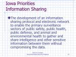 iowa priorities information sharing