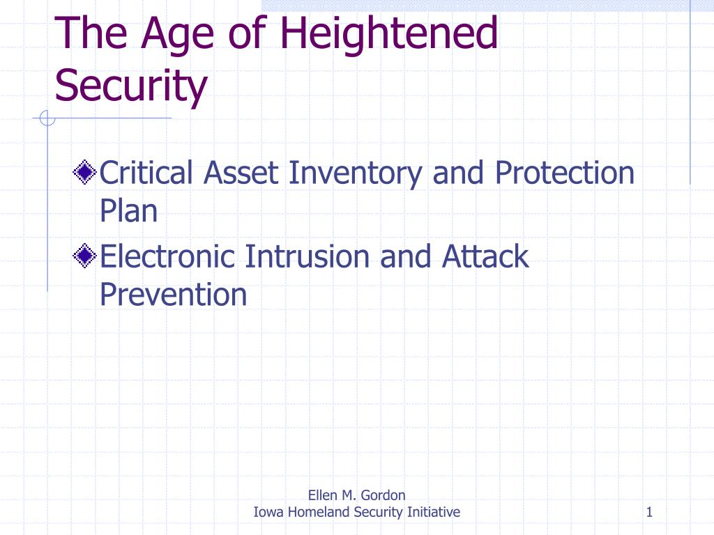 the age of heightened security l.