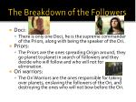 the breakdown of the followers