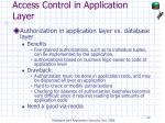 access control in application layer22