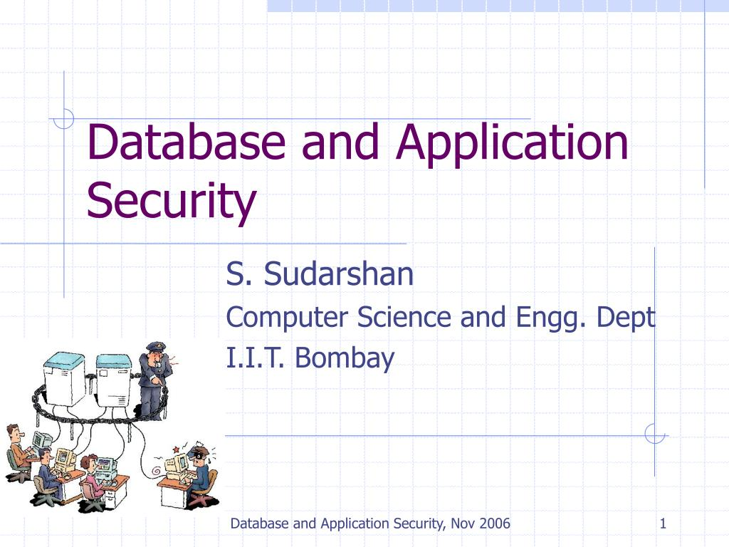 database and application security l.
