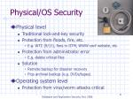 physical os security
