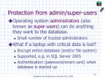protection from admin super users