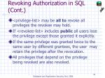 revoking authorization in sql cont