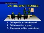 on the spot praises