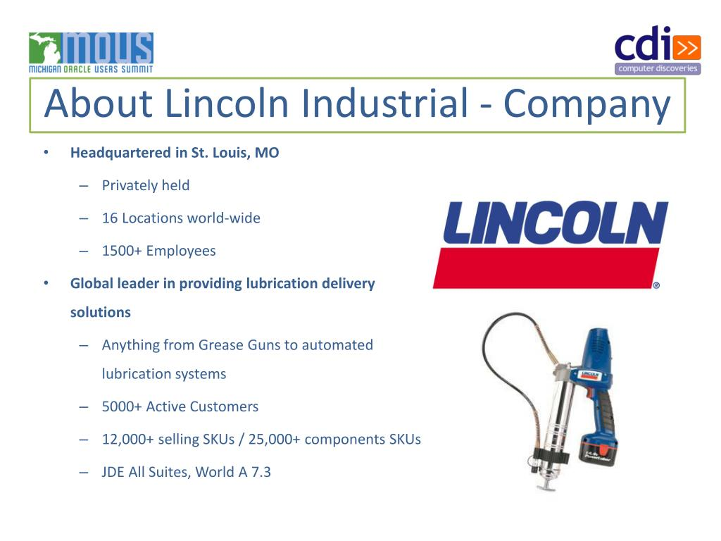 About Lincoln Industrial - Company
