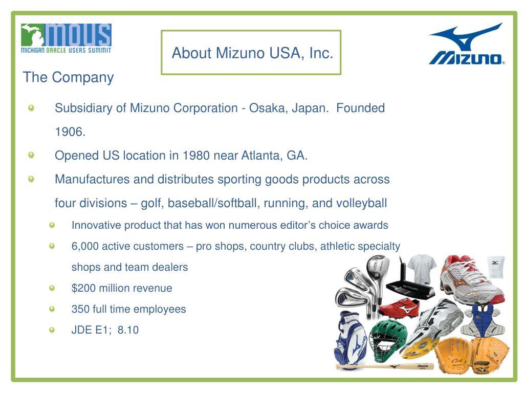 About Mizuno USA, Inc.