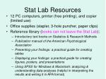stat lab resources