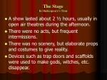 the stage in shakespeare s time