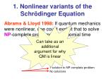 1 nonlinear variants of the schr dinger equation