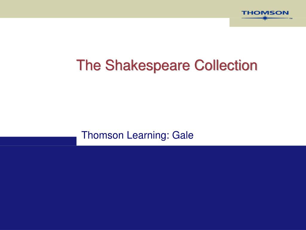 the shakespeare collection l.