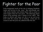 fighter for the poor