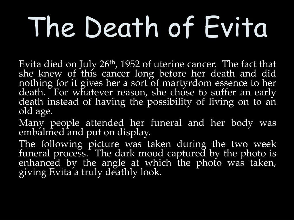 The Death of Evita