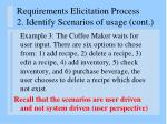 requirements elicitation process 2 identify scenarios of usage cont