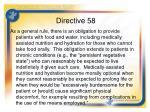 directive 58
