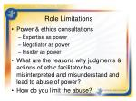 role limitations26
