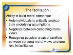 the facilitation14
