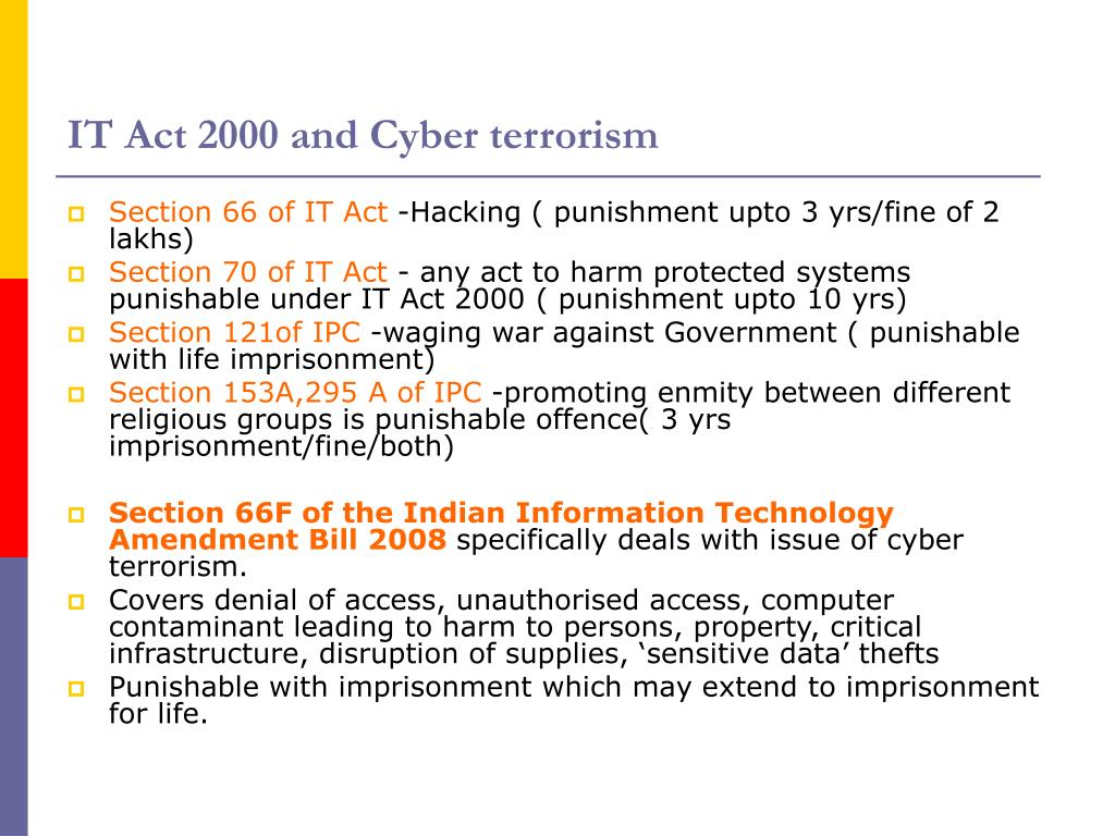 IT Act 2000 and Cyber terrorism