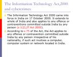 the information technology act 2000 and cybercrimes