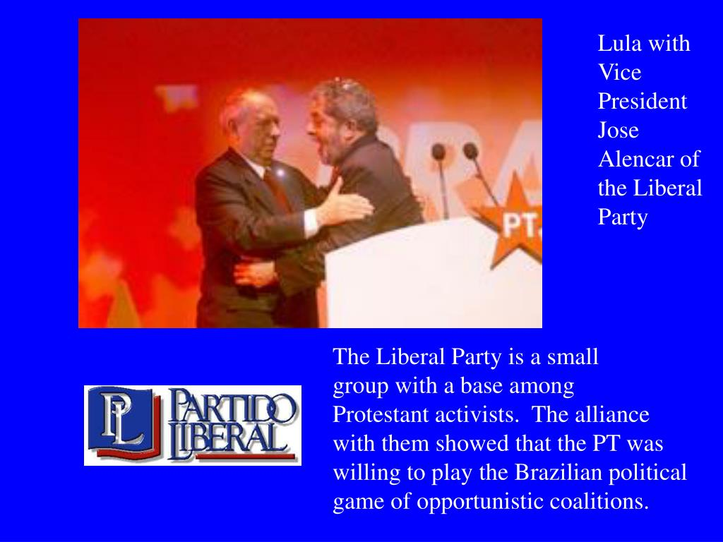 Lula with Vice President Jose Alencar of the Liberal Party