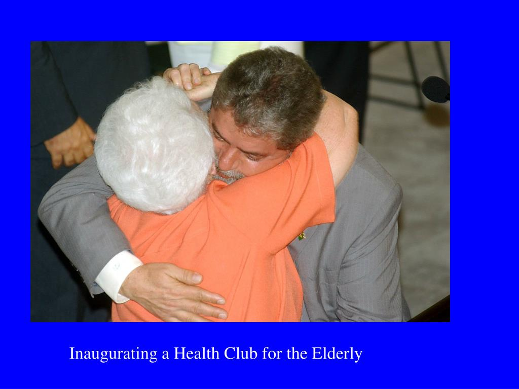 Inaugurating a Health Club for the Elderly