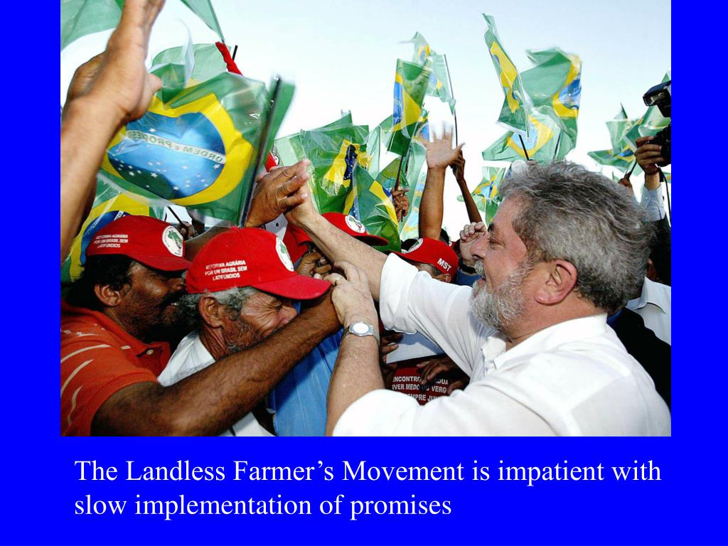 The Landless Farmer's Movement is impatient with slow implementation of promises