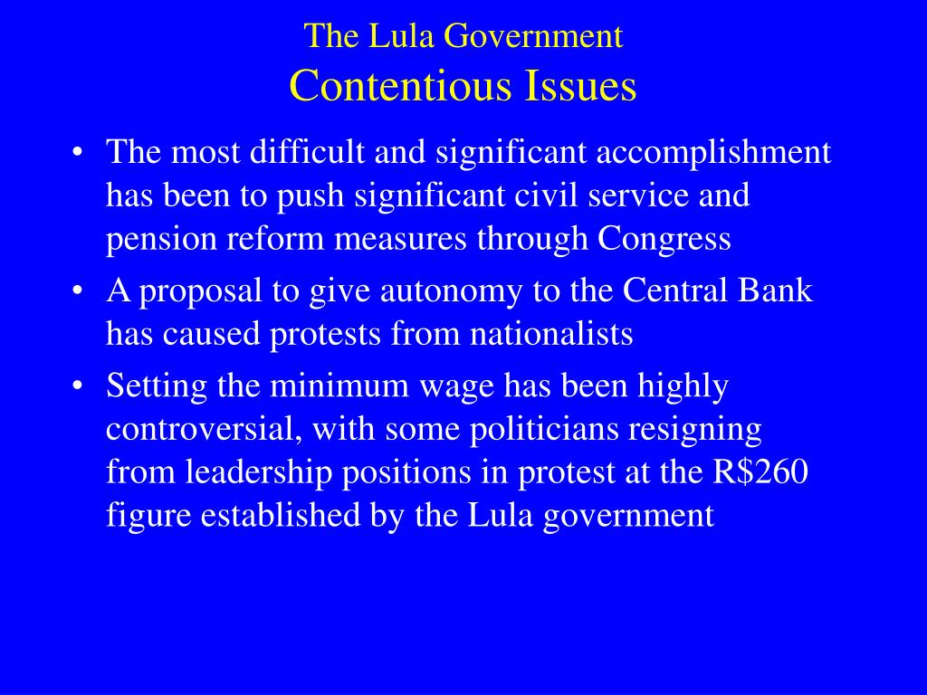 The Lula Government