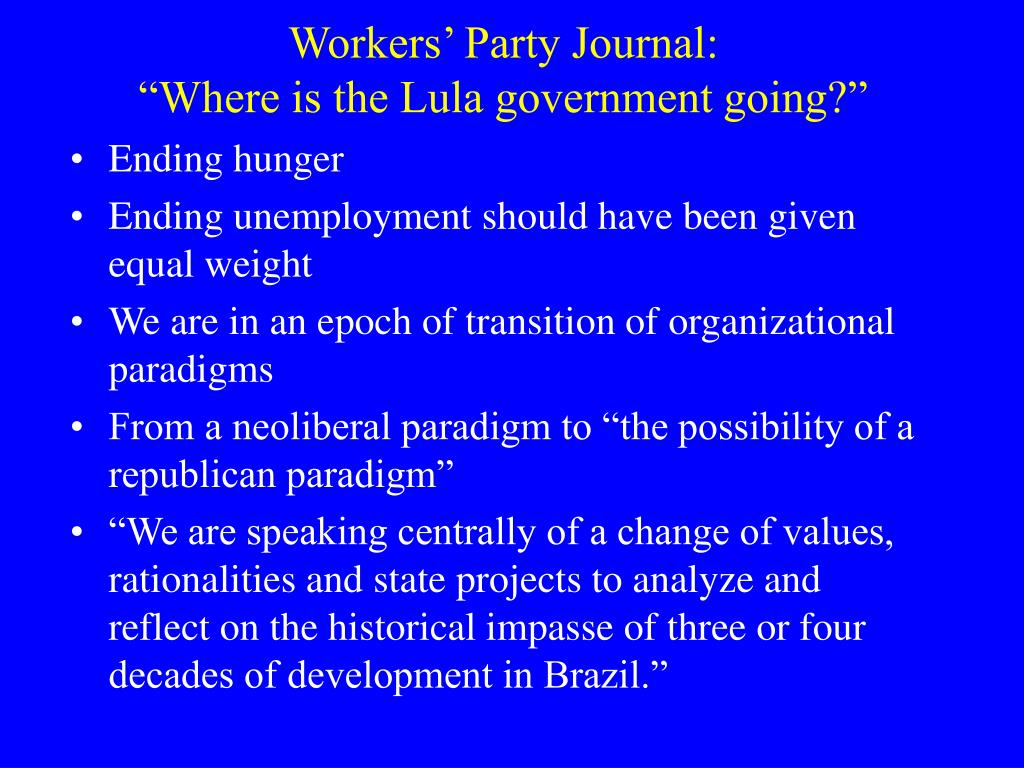 Workers' Party Journal: