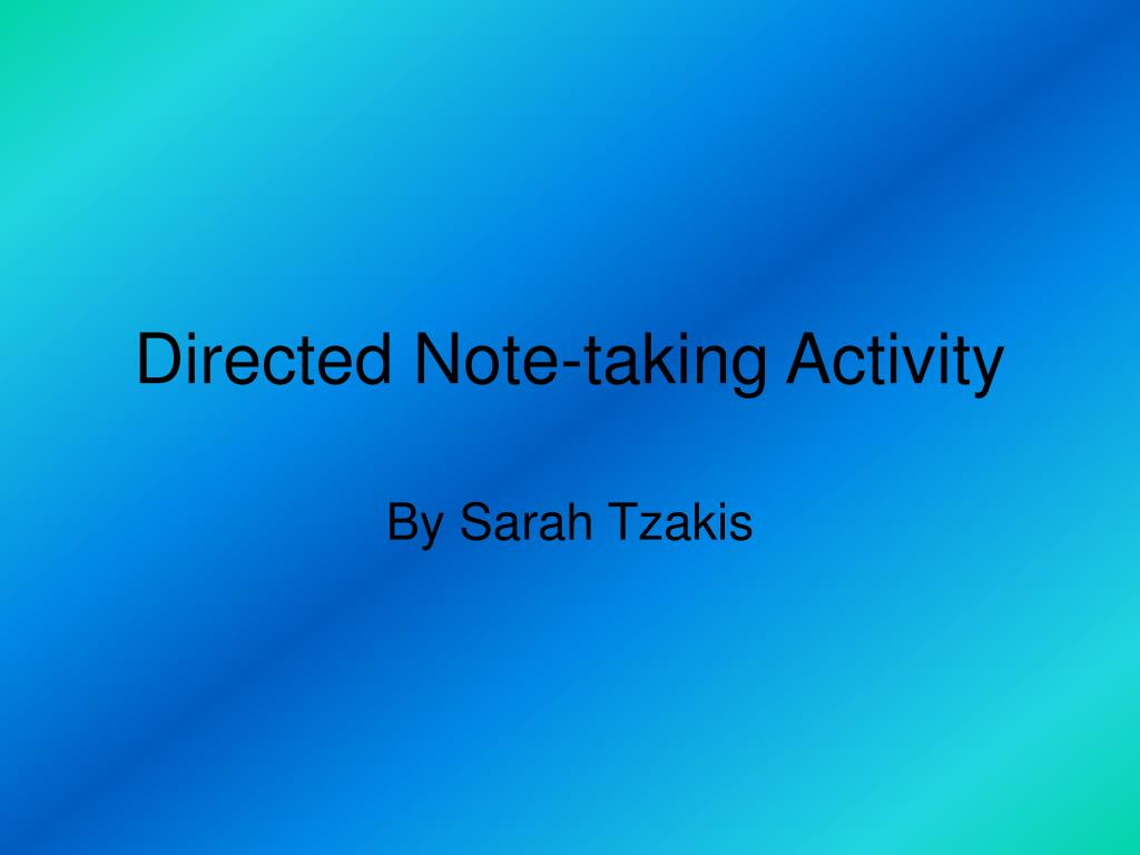 directed note taking activity l.